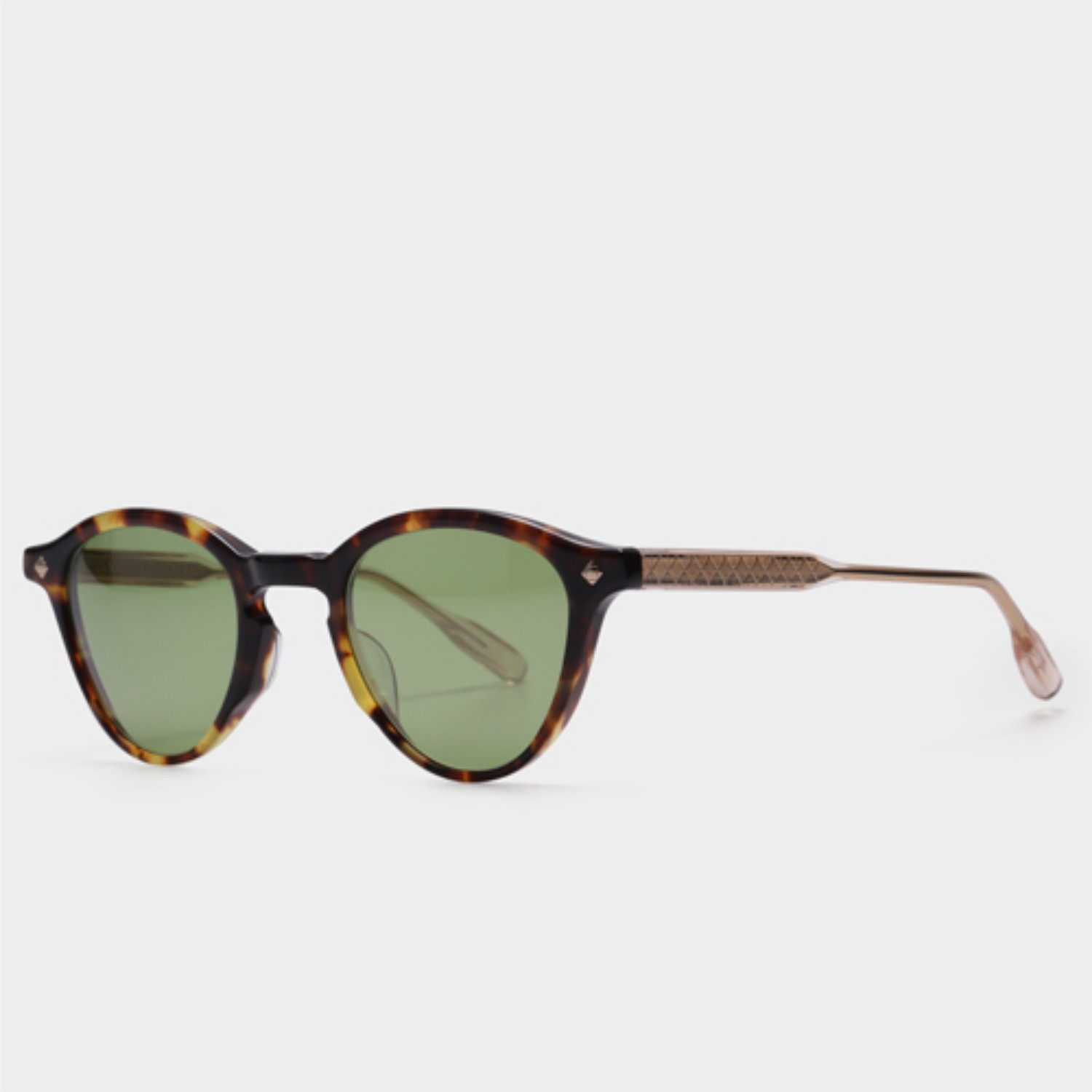 루네뜨리제너럴 DOLCE VITA III Tortoise And Sand (Green Lens)